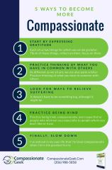 how to be more compassionate infographic