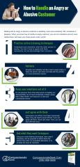 how to handle angry customer infographic