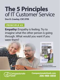 it service empathy poster