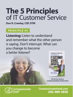 it service listening poster