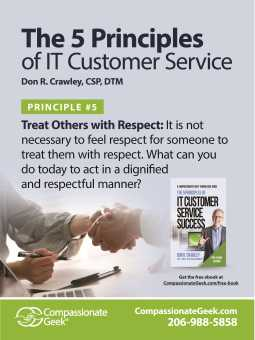 it service respect poster